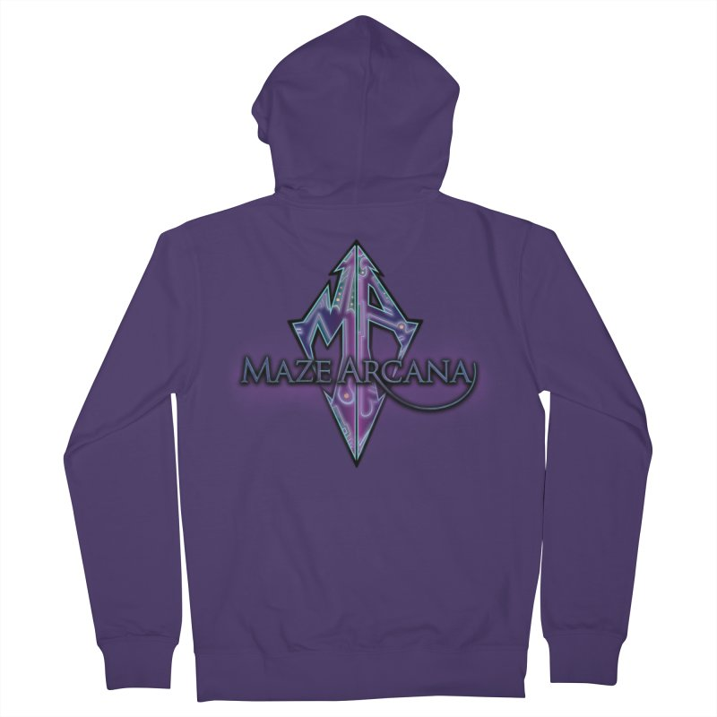 Maze Arcana Logo - Purple Smoke Women's Zip-Up Hoody by Maze Arcana Shop