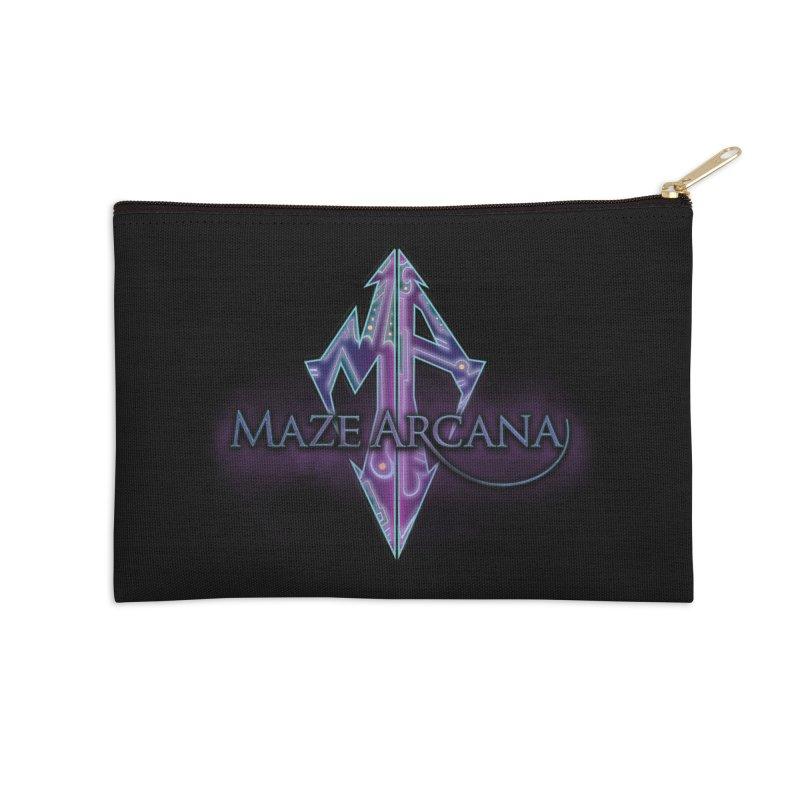 Maze Arcana Logo - Purple Smoke Accessories Zip Pouch by Maze Arcana Shop