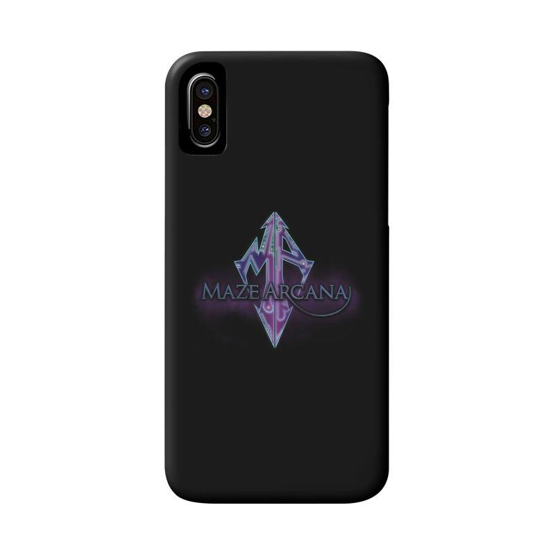 Maze Arcana Logo - Purple Smoke Accessories Phone Case by Maze Arcana Shop