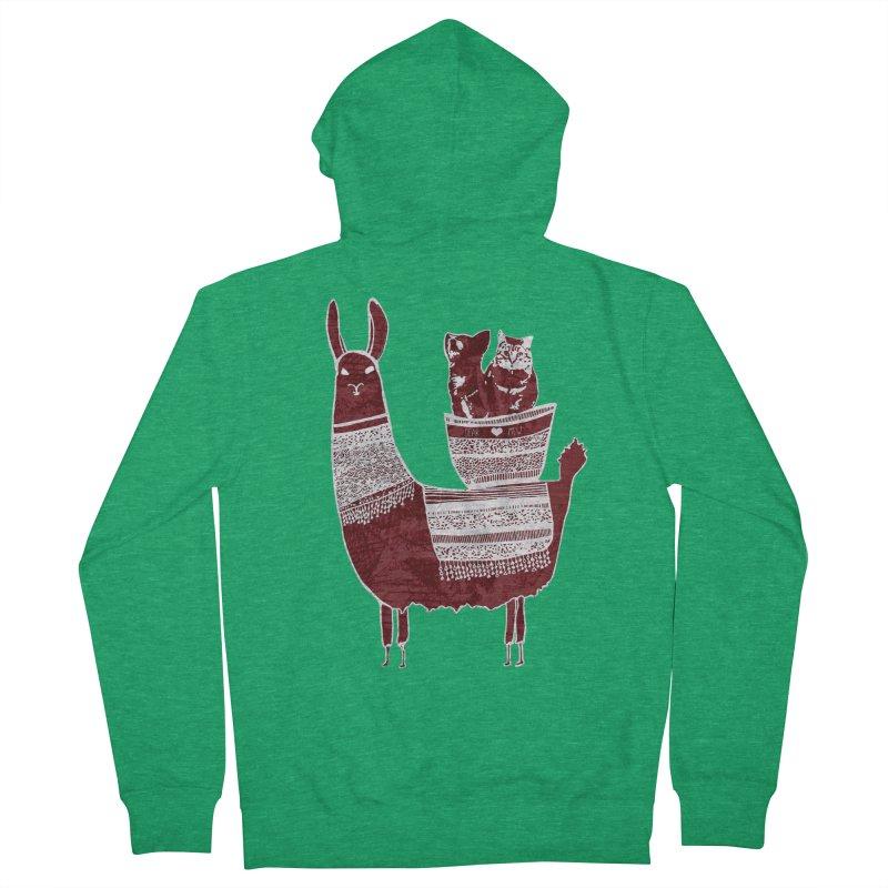 Mew and Bear BFFs Men's Zip-Up Hoody by MCGILSKY DESIGN SHOP