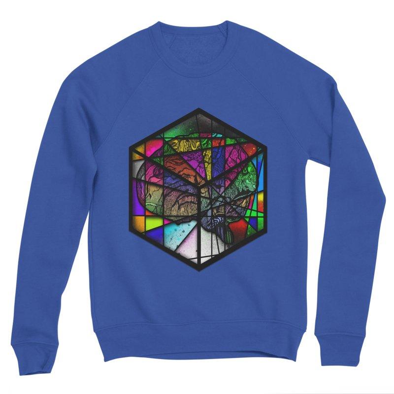 Brain Cube Men's Sweatshirt by MCGILSKY DESIGN SHOP