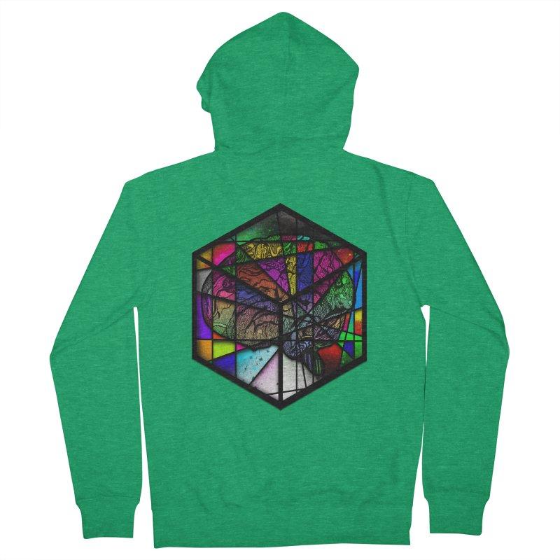 Brain Cube Men's Zip-Up Hoody by MCGILSKY DESIGN SHOP