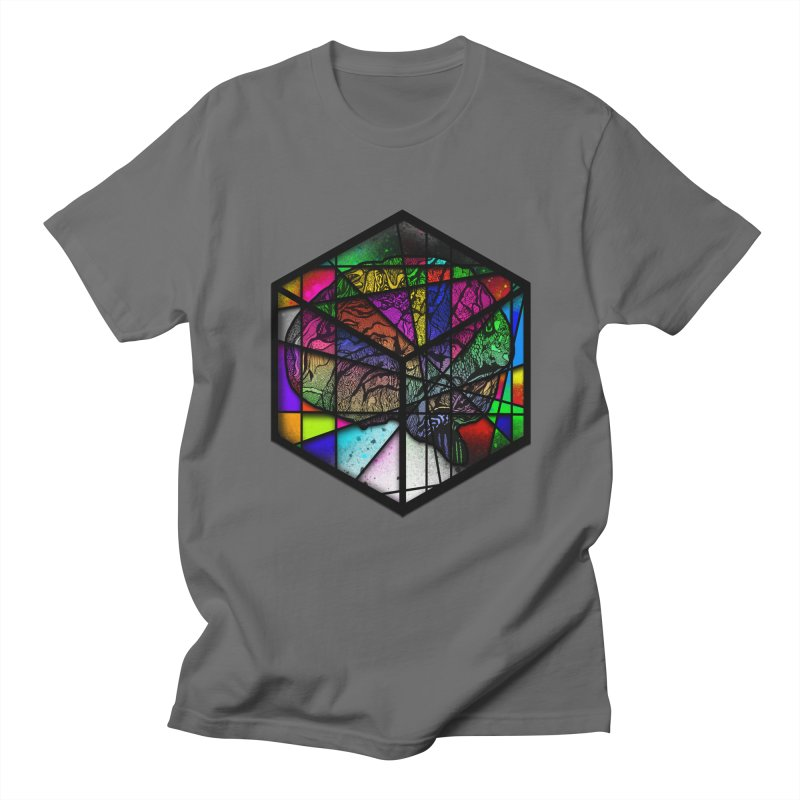 Brain Cube Men's T-Shirt by MCGILSKY DESIGN SHOP