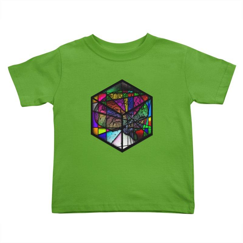 Brain Cube Kids Toddler T-Shirt by MCGILSKY DESIGN SHOP