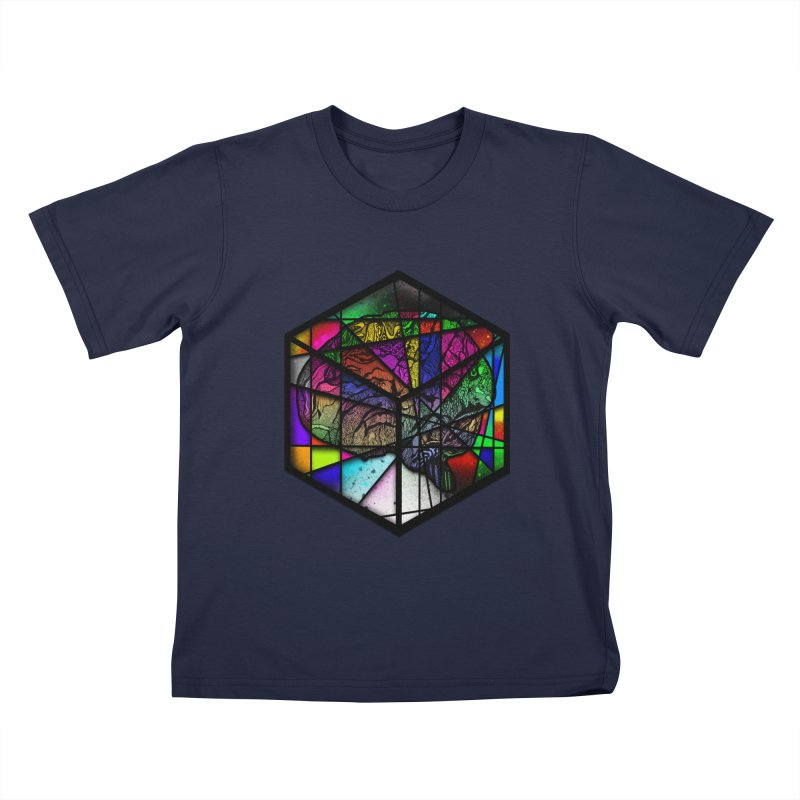 Brain Cube Kids T-Shirt by MCGILSKY DESIGN SHOP