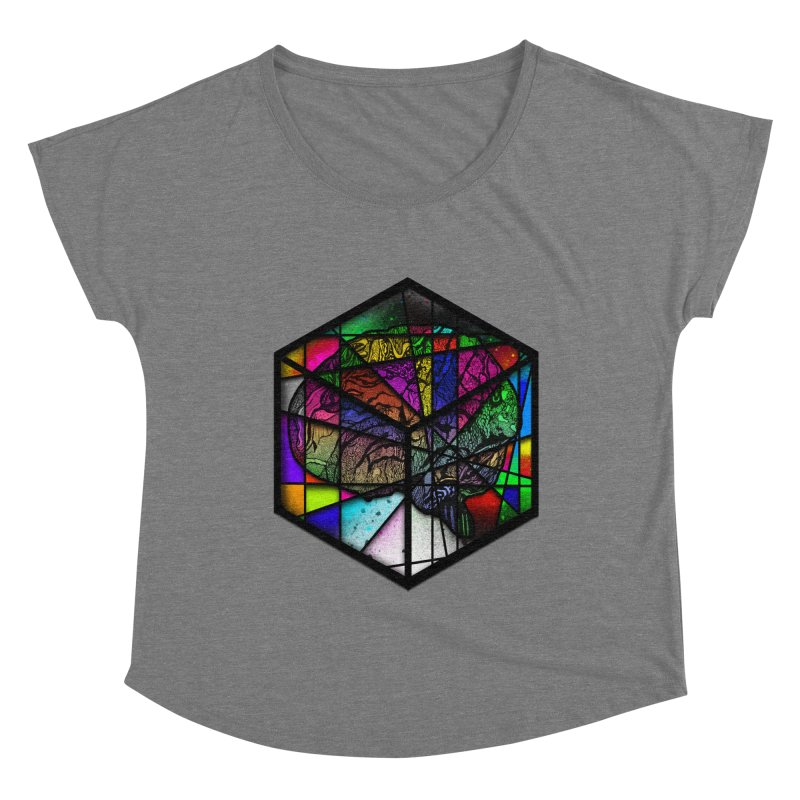 Brain Cube Women's Scoop Neck by MCGILSKY DESIGN SHOP
