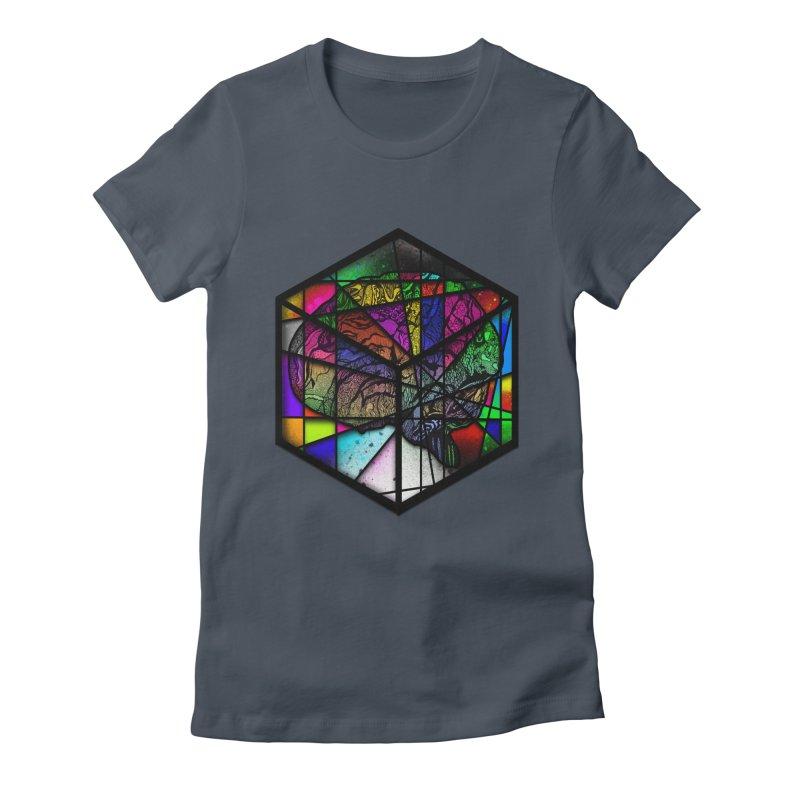 Brain Cube Women's T-Shirt by MCGILSKY DESIGN SHOP