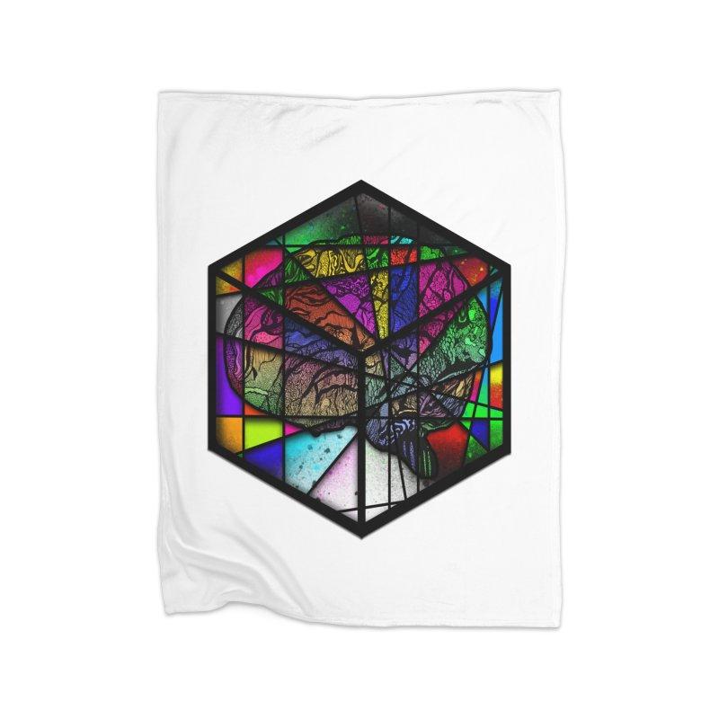 Brain Cube Home Blanket by MCGILSKY DESIGN SHOP