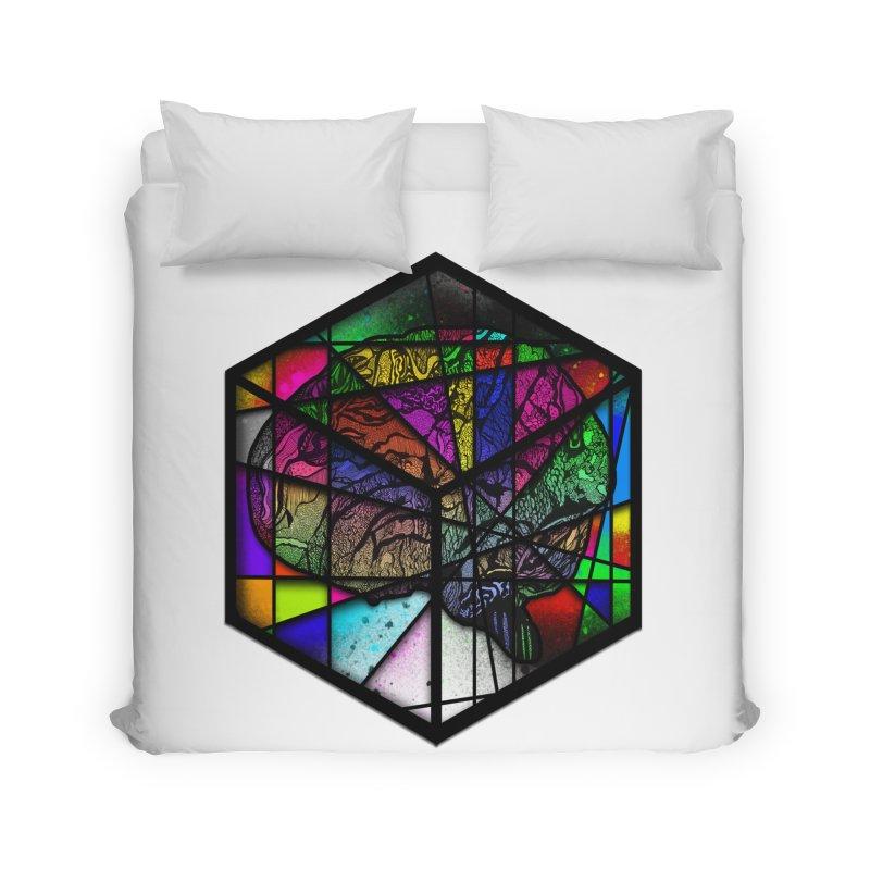 Brain Cube Home Duvet by MCGILSKY DESIGN SHOP