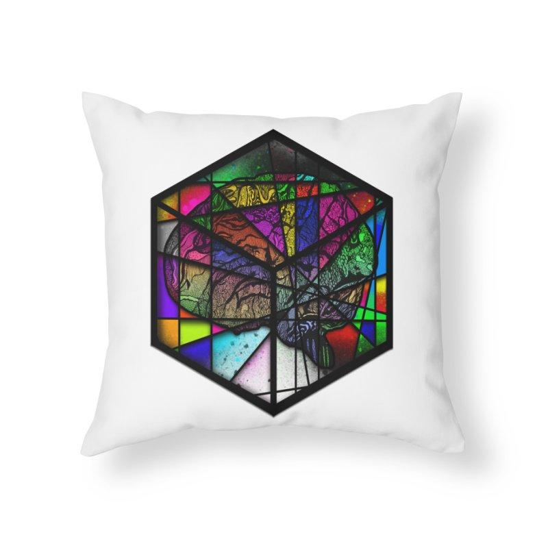 Brain Cube Home Throw Pillow by MCGILSKY DESIGN SHOP