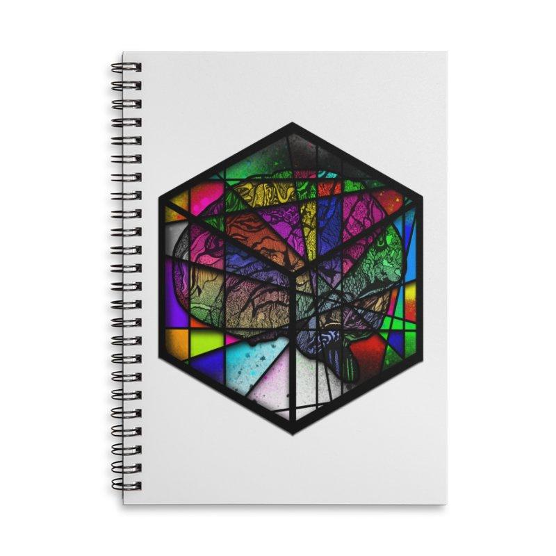 Brain Cube Accessories Notebook by MCGILSKY DESIGN SHOP