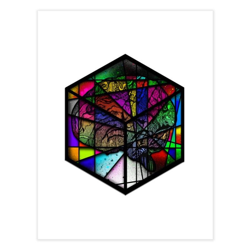 Brain Cube Home Fine Art Print by MCGILSKY DESIGN SHOP
