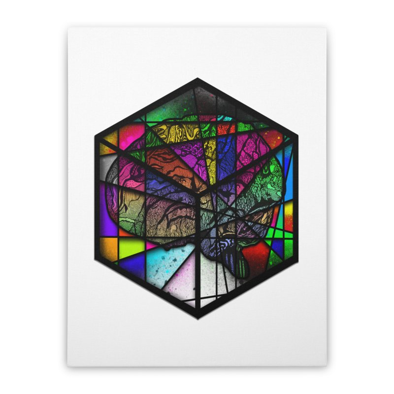 Brain Cube Home Stretched Canvas by MCGILSKY DESIGN SHOP