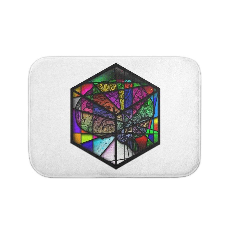 Brain Cube Home Bath Mat by MCGILSKY DESIGN SHOP