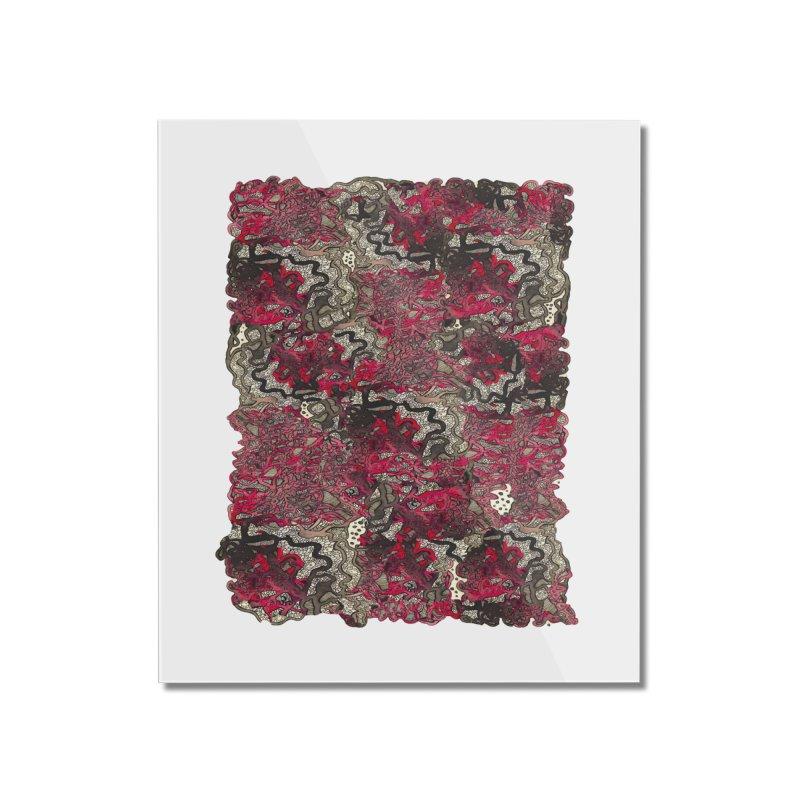 Tangled Home Mounted Acrylic Print by MCGILSKY DESIGN SHOP