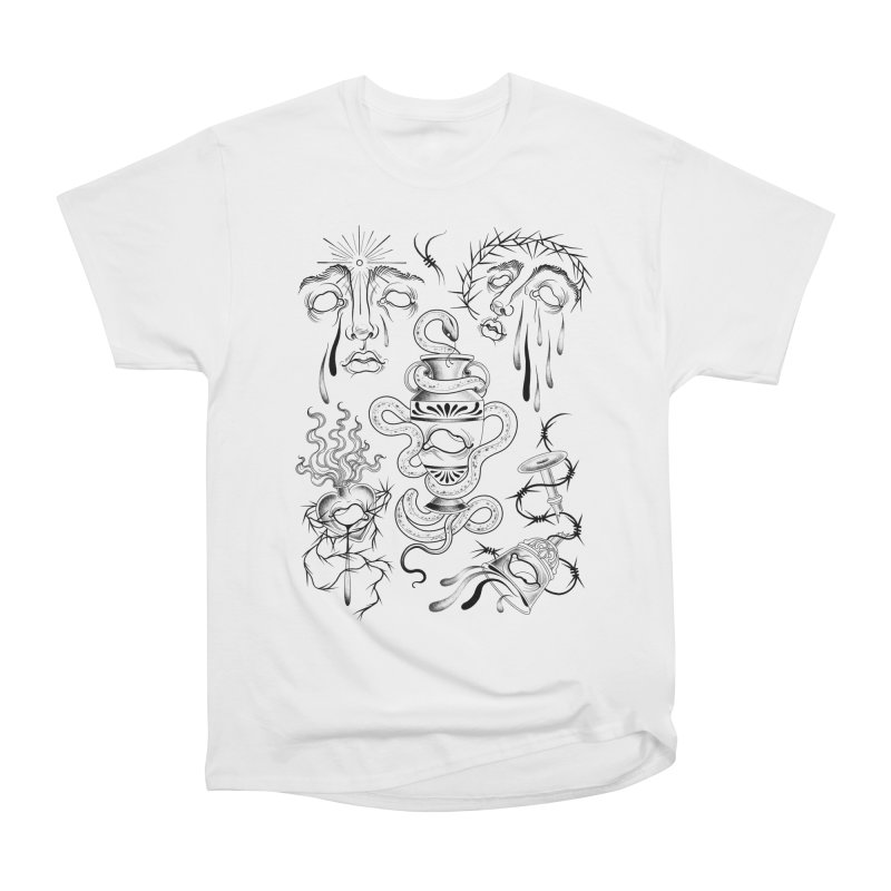 Faces and Objects Flash Sheet Men's T-Shirt by Meagan Blackwood's Artist Shop