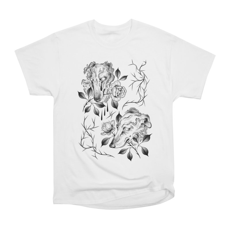 Borzoi Boys Flash Sheet Men's T-Shirt by Meagan Blackwood's Artist Shop