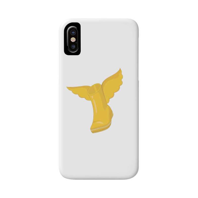 WellyBoots With Wings in iPhone X / XS Phone Case Slim by Mee And The Band