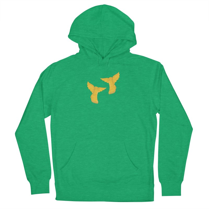 Wellyboots with Wings x 2 Women's French Terry Pullover Hoody by Mee And The Band