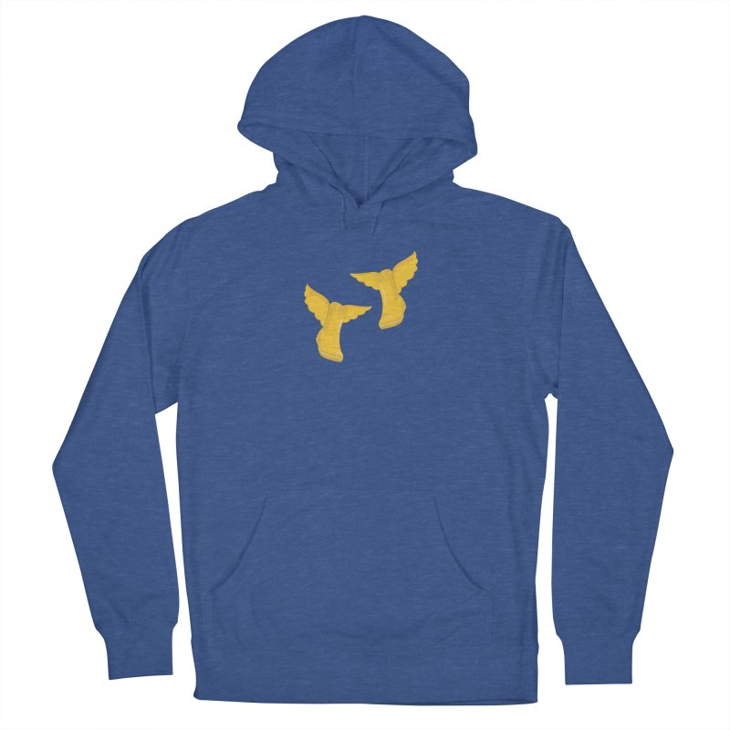 Wellyboots with Wings x 2 in Women's French Terry Pullover Hoody Heather Royal by Mee And The Band