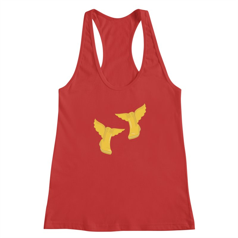Wellyboots with Wings x 2 Women's Racerback Tank by Mee And The Band