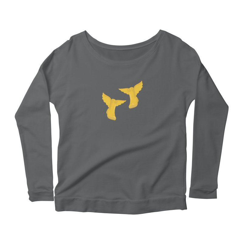 Wellyboots with Wings x 2 Women's Longsleeve T-Shirt by Mee And The Band