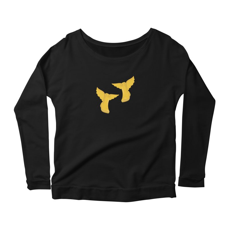 Wellyboots with Wings x 2 Women's Scoop Neck Longsleeve T-Shirt by Mee And The Band