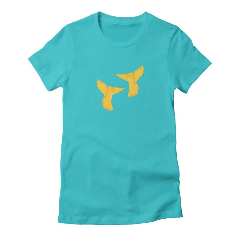 Wellyboots with Wings x 2 Women's Fitted T-Shirt by Mee And The Band