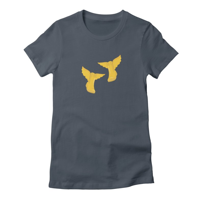 Wellyboots with Wings x 2 Women's T-Shirt by Mee And The Band