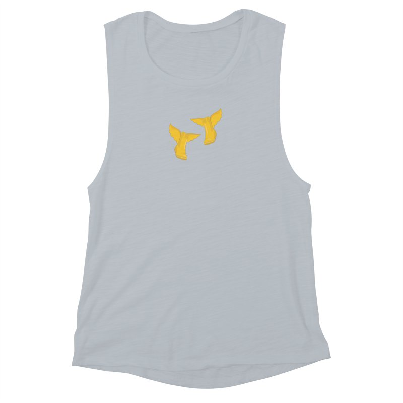 Wellyboots with Wings x 2 Women's Muscle Tank by Mee And The Band
