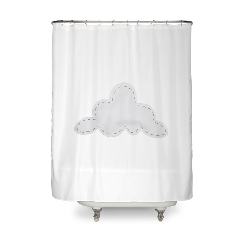 Cloudy Home Shower Curtain by Mee And The Band
