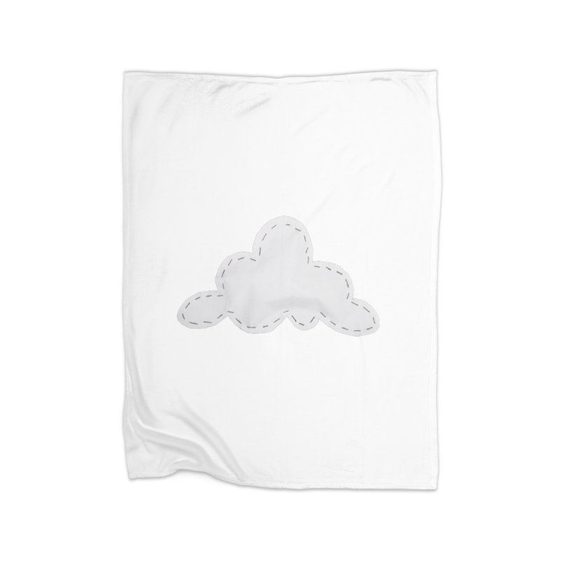 Cloudy Home Fleece Blanket Blanket by Mee And The Band