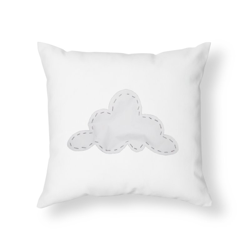 Cloudy Home Throw Pillow by Mee And The Band