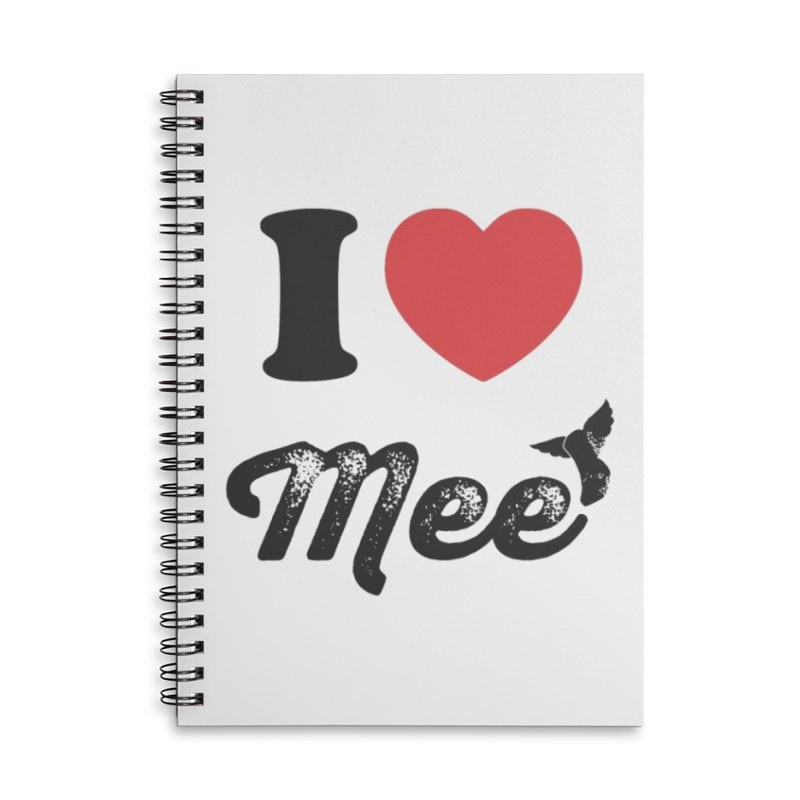 I love Mee Accessories Lined Spiral Notebook by Mee And The Band