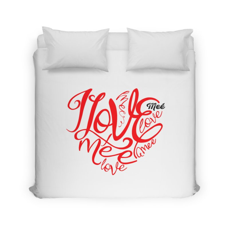 I Love Mee Swirly Heart Home Duvet by Mee And The Band