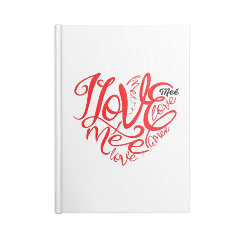 I Love Mee Swirly Heart Accessories Notebook by Mee And The Band