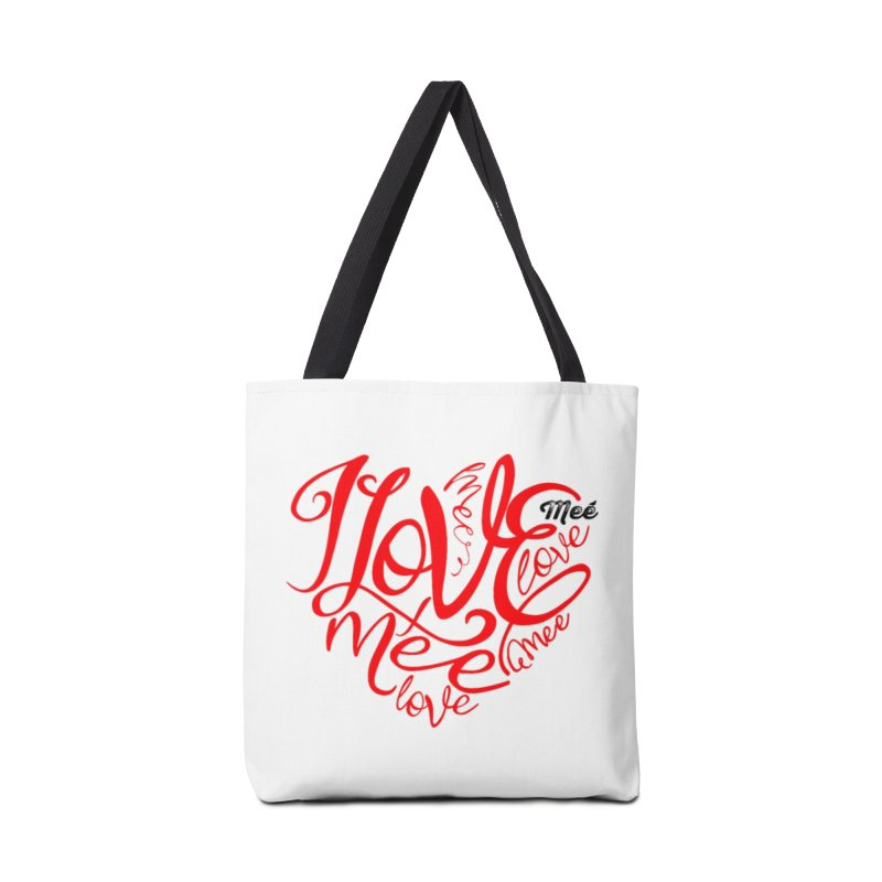 I Love Mee Swirly Heart Accessories Tote Bag Bag by Mee And The Band