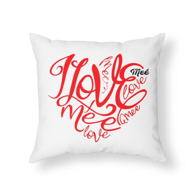 I Love Mee Swirly Heart Home Throw Pillow by Mee And The Band