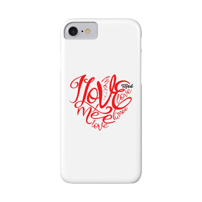 I Love Mee Swirly Heart in iPhone 7 Phone Case Slim by Mee And The Band