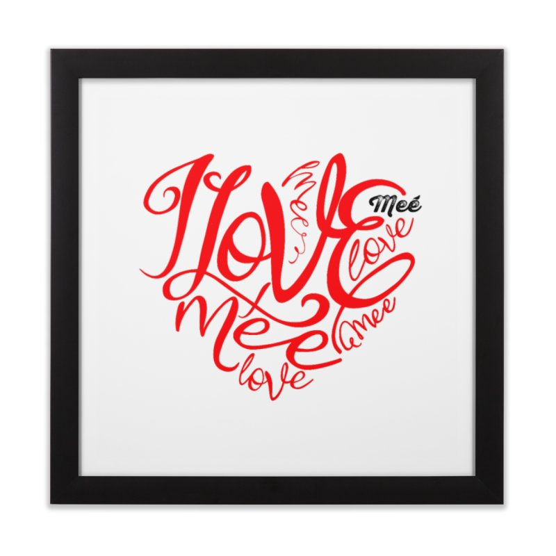 I Love Mee Swirly Heart Home Framed Fine Art Print by Mee And The Band