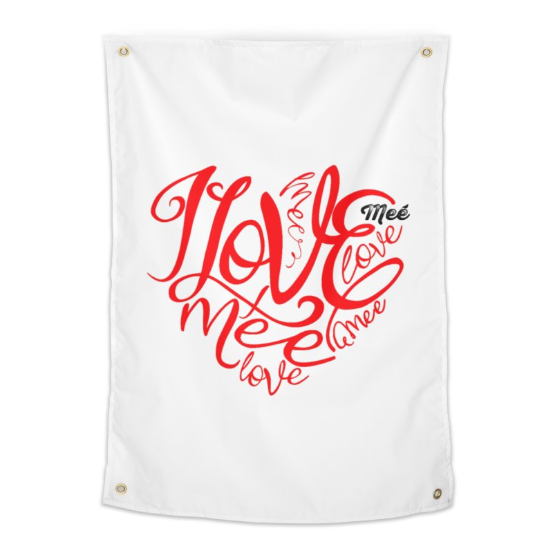 I Love Mee Swirly Heart Home Tapestry by Mee And The Band