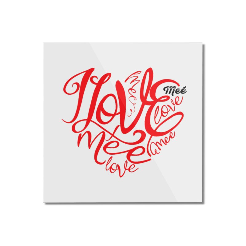 I Love Mee Swirly Heart Home Mounted Acrylic Print by Mee And The Band