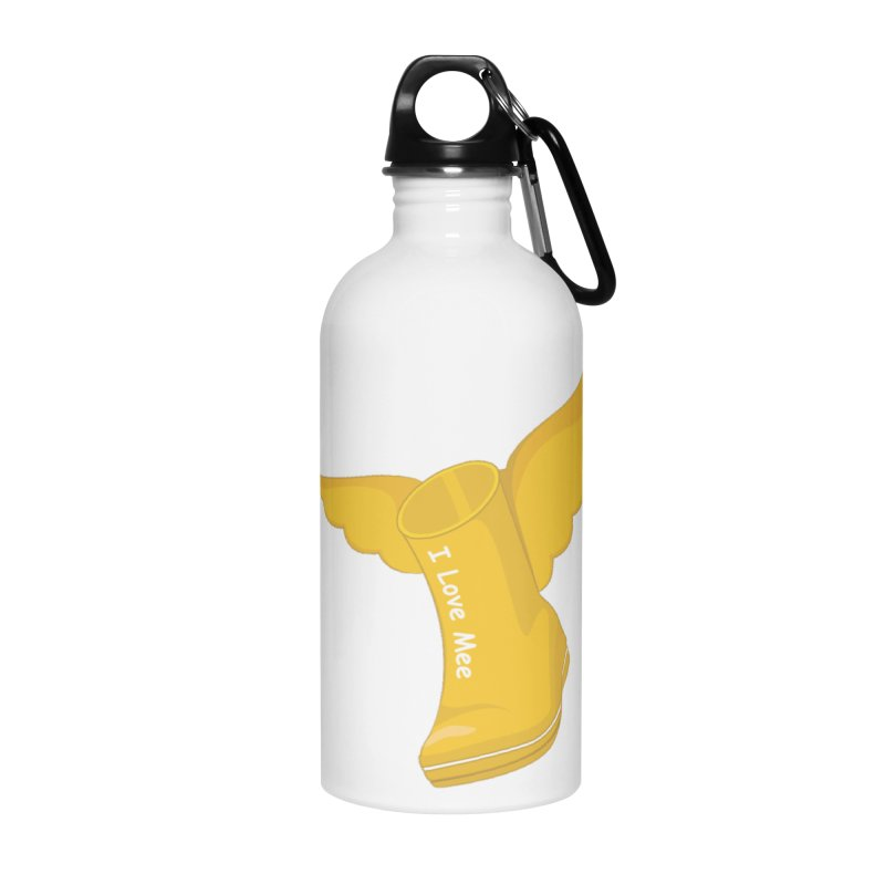I love Mee Flying WellyBoot Accessories Water Bottle by Mee And The Band