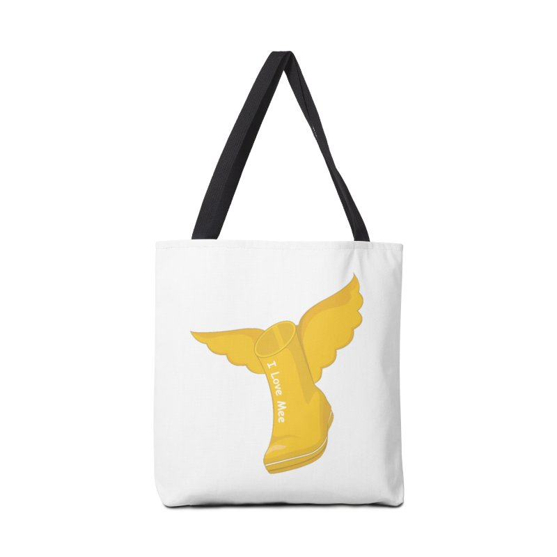 I love Mee Flying WellyBoot Accessories Tote Bag Bag by Mee And The Band