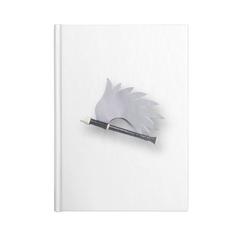 Flying Recorder Accessories Blank Journal Notebook by Mee And The Band