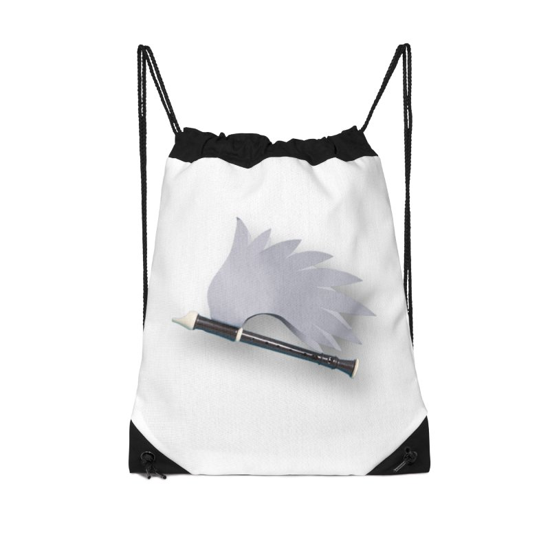 Flying Recorder Accessories Drawstring Bag Bag by Mee And The Band