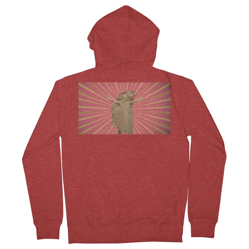 Pan Pierog - EAT PIEROGI Men's French Terry Zip-Up Hoody by Mee And The Band