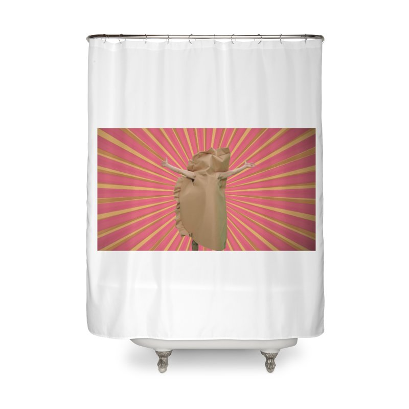 Pan Pierog - EAT PIEROGI Home Shower Curtain by Mee And The Band