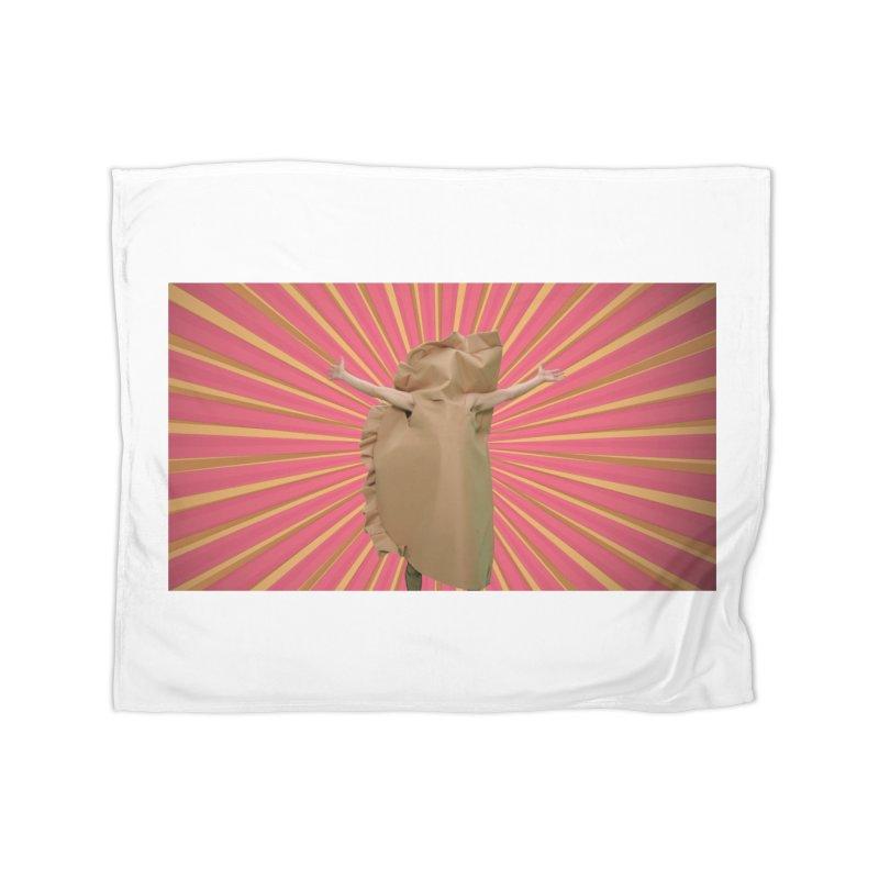 Pan Pierog - EAT PIEROGI Home Fleece Blanket Blanket by Mee And The Band