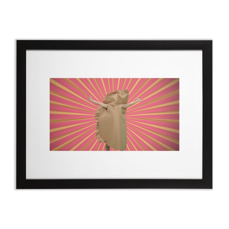 Pan Pierog - EAT PIEROGI Home Framed Fine Art Print by Mee And The Band